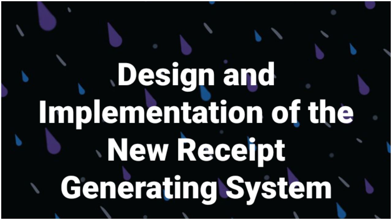 Design and Implementation of the New Receipt Generating System